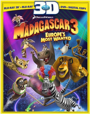 Madagascar 3: Europes Most Wanted 3D Blu-ray